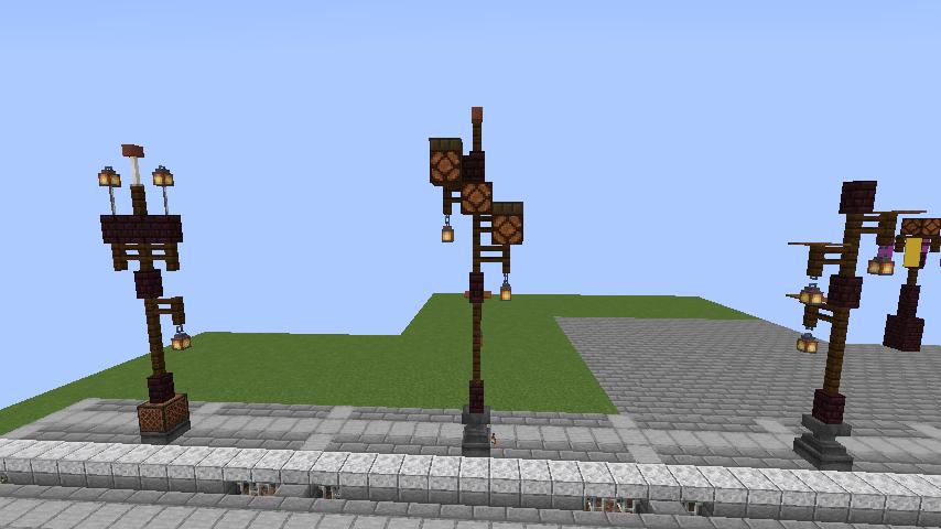 Minecrafterししゃもがマインクラフトでぷっこ村の街灯がダサすぎる問題を解決する5