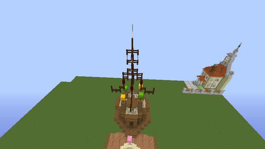 Minecrafterししゃもがマインクラフトでぷっこ村に、グラビティデイズをモデルにしたファンタジーな空中都市を建築する2