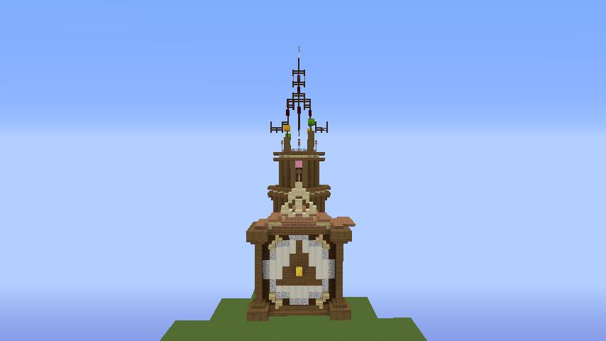 Minecrafterししゃもがマインクラフトでぷっこ村に、グラビティデイズをモデルにしたファンタジーな空中都市を建築する1