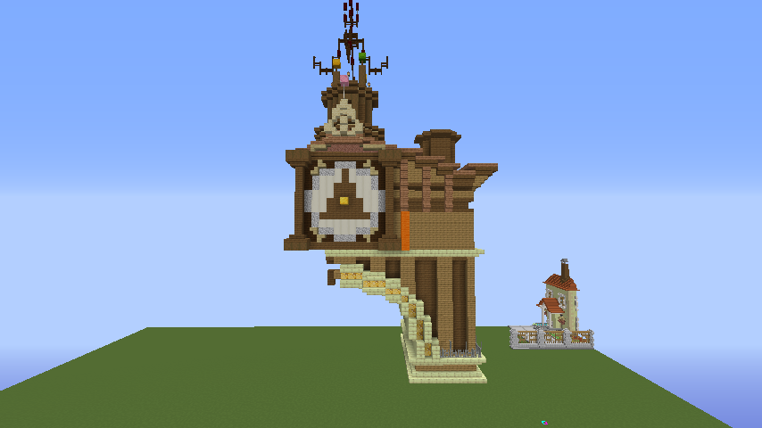 Minecrafterししゃもがマインクラフトでぷっこ村に、グラビティデイズをモデルにしたファンタジーな空中都市を建築する3