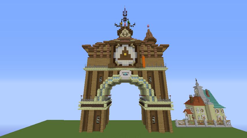 Minecrafterししゃもがマインクラフトでぷっこ村に、グラビティデイズをモデルにしたファンタジーな空中都市を建築する4