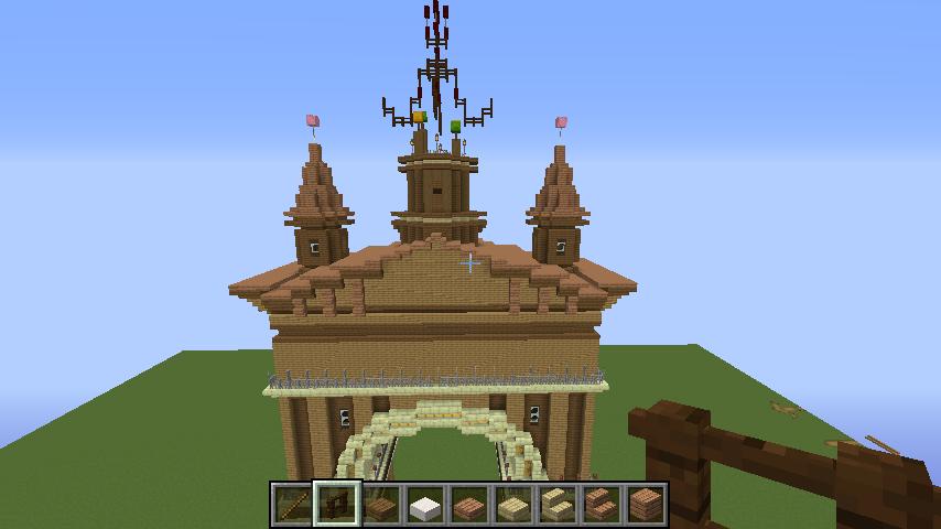 Minecrafterししゃもがマインクラフトでぷっこ村に、グラビティデイズをモデルにしたファンタジーな空中都市を建築する5