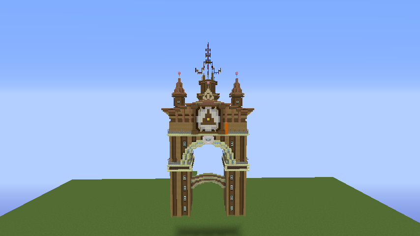 Minecrafterししゃもがマインクラフトでぷっこ村に、グラビティデイズをモデルにしたファンタジーな空中都市を建築する6