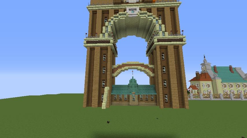 Minecrafterししゃもがマインクラフトでぷっこ村に、グラビティデイズをモデルにしたファンタジーな空中都市を建築する7