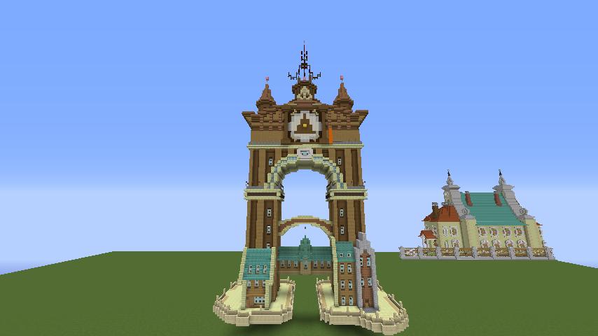 Minecrafterししゃもがマインクラフトでぷっこ村に、グラビティデイズをモデルにしたファンタジーな空中都市を建築する8