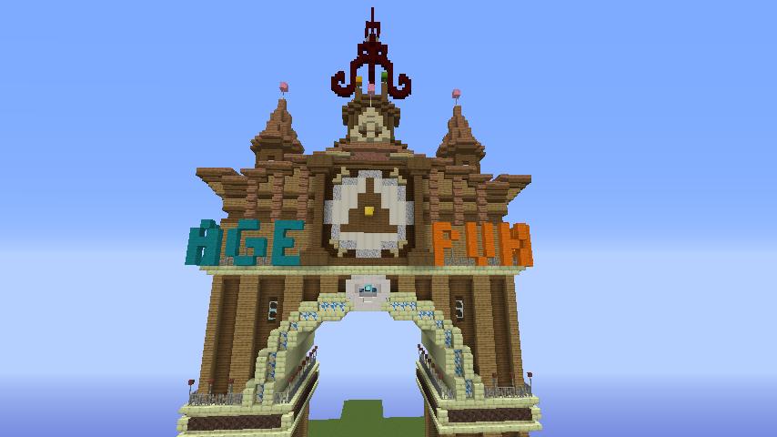 Minecrafterししゃもがマインクラフトでぷっこ村に、グラビティデイズをモデルにしたファンタジーな空中都市を建築する9