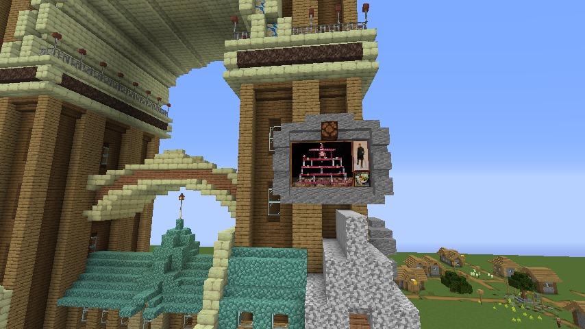 Minecrafterししゃもがマインクラフトでぷっこ村に、グラビティデイズをモデルにしたファンタジーな空中都市を建築する11