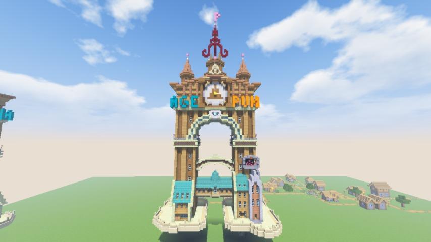 Minecrafterししゃもがマインクラフトでぷっこ村に、グラビティデイズをモデルにしたファンタジーな空中都市を建築する13