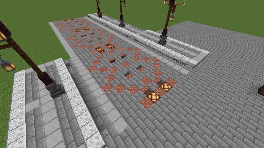 Minecrafterししゃもがマインクラフトでぷっこ村の街灯がダサすぎる問題を解決する6