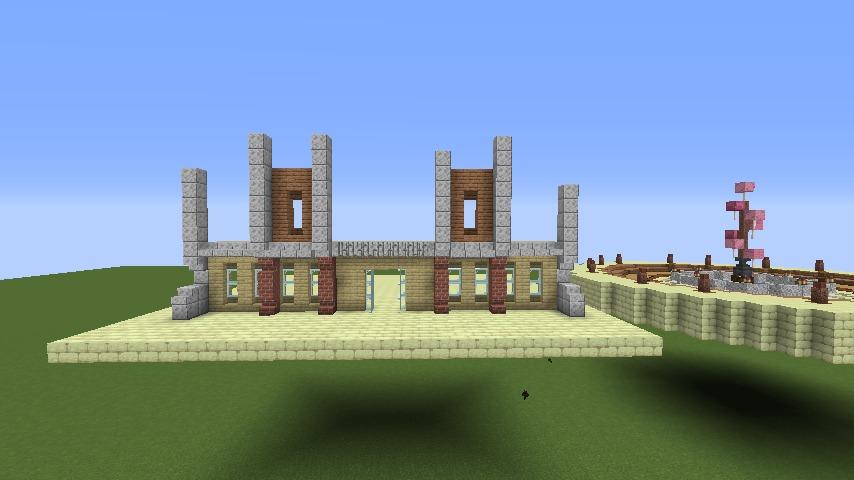 Minecrafterししゃもがマインクラフトで空中都市プコサヴィルに郵便局を作る1