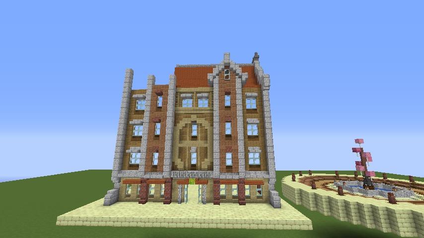 Minecrafterししゃもがマインクラフトで空中都市プコサヴィルに郵便局を作る2