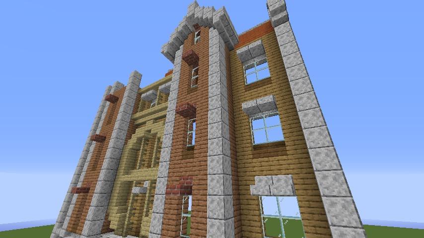 Minecrafterししゃもがマインクラフトで空中都市プコサヴィルに郵便局を作る3