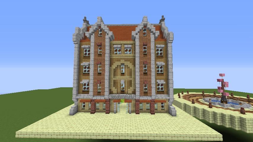 Minecrafterししゃもがマインクラフトで空中都市プコサヴィルに郵便局を作る4
