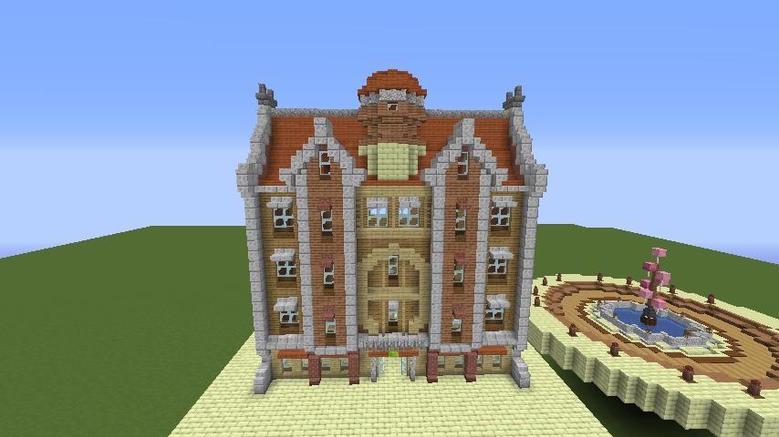 Minecrafterししゃもがマインクラフトで空中都市プコサヴィルに郵便局を作る5