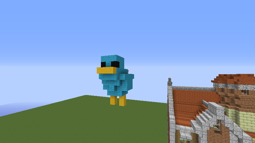 Minecrafterししゃもがマインクラフトで空中都市プコサヴィルに郵便局を作る7