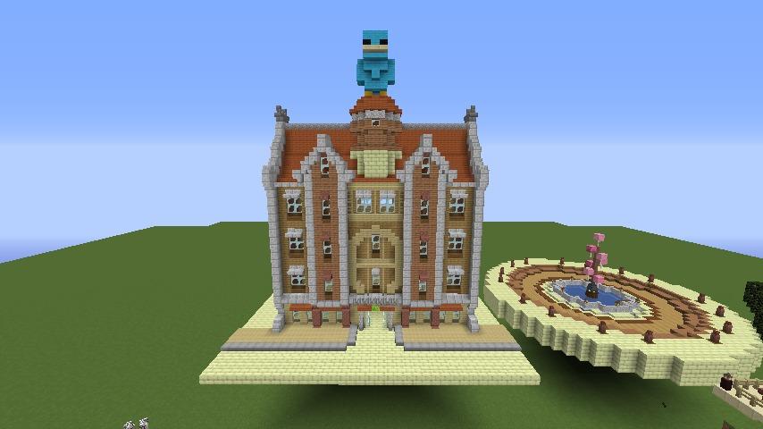 Minecrafterししゃもがマインクラフトで空中都市プコサヴィルに郵便局を作る8