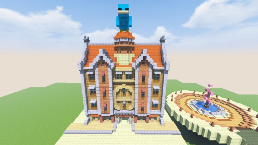 Minecrafterししゃもがマインクラフトで空中都市プコサヴィルに郵便局を作る10
