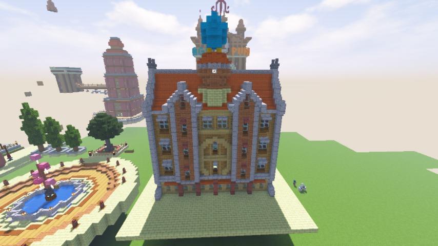Minecrafterししゃもがマインクラフトで空中都市プコサヴィルに郵便局を作る11
