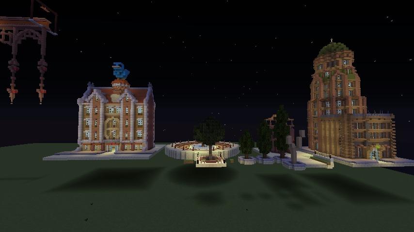 Minecrafterししゃもがマインクラフトで空中都市プコサヴィルに郵便局を作る9