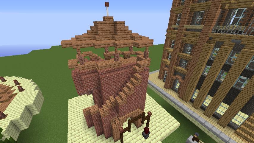 Minecrafterししゃもがマインクラフトでぷっこ村にグラビティデイズな公園を作る2