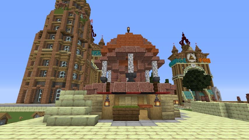 Minecrafterししゃもがマインクラフトでぷっこ村にグラビティデイズな公園を作る7