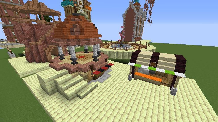 Minecrafterししゃもがマインクラフトでぷっこ村にグラビティデイズな公園を作る6