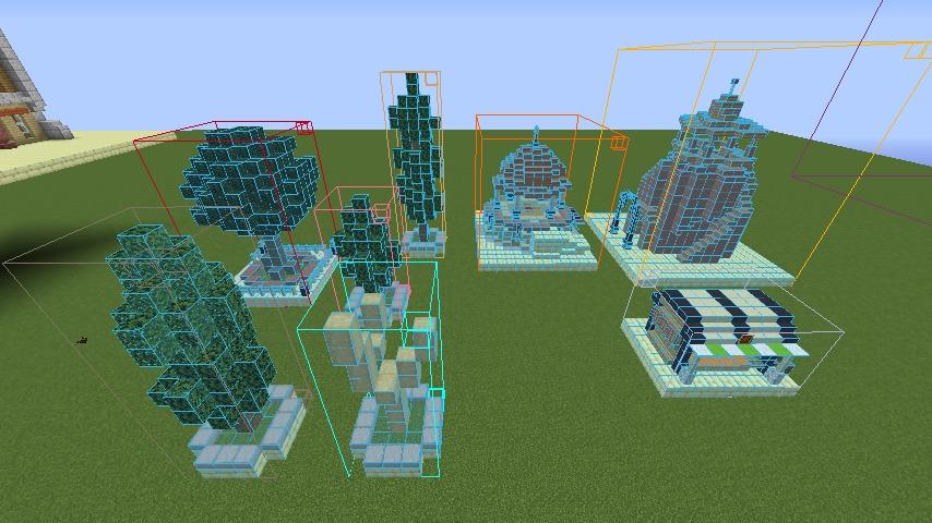 Minecrafterししゃもがマインクラフトで空中都市プコサヴィルの公園を作る1