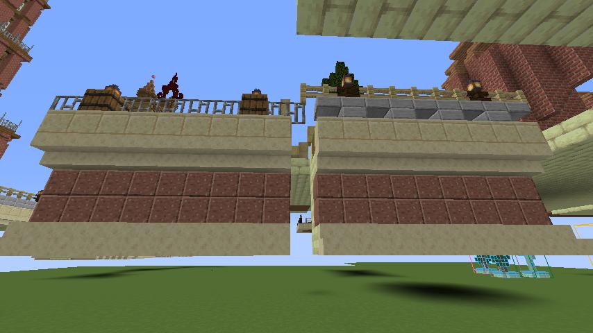 Minecrafterししゃもがマインクラフトで空中都市プコサヴィルの公園を作る5