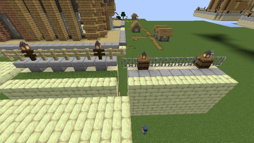 Minecrafterししゃもがマインクラフトで空中都市プコサヴィルの公園を作る6