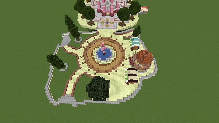 Minecrafterししゃもがマインクラフトで空中都市プコサヴィルの公園を作る2