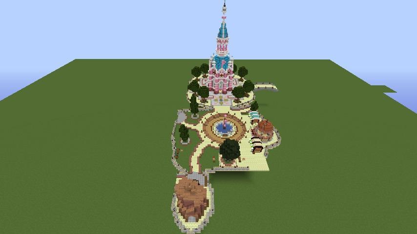 Minecrafterししゃもがマインクラフトで空中都市プコサヴィルの公園を作る3
