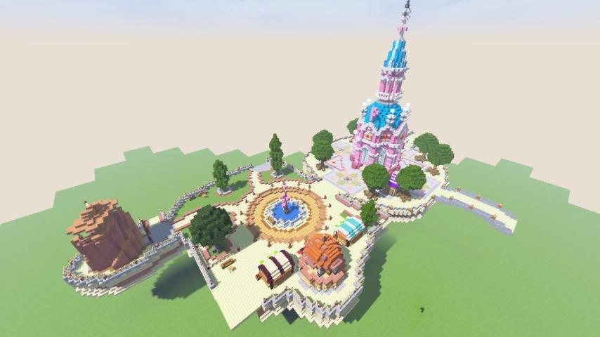 Minecrafterししゃもがマインクラフトで空中都市プコサヴィルの公園を作る7