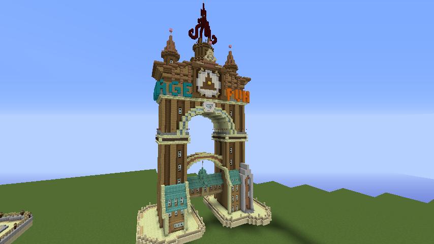 プコサヴィルのシンボル、ツインタワーな時計塔