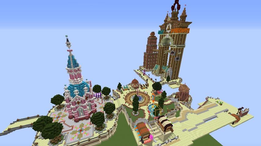 Minecrafterししゃもがマインクラフトでぷっこ村の空中都市プコサヴィルを作っていく4