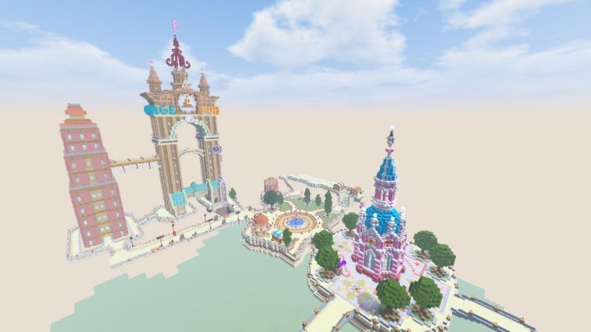 Minecrafterししゃもがマインクラフトでぷっこ村の空中都市プコサヴィルを作っていく5
