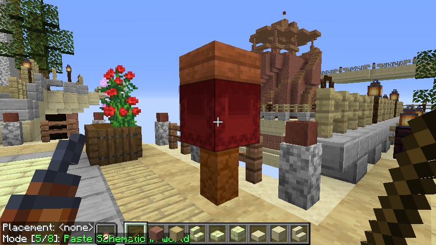 Minecrafterししゃもがマインクラフトで空中都市プコサヴィルに郵便局を作る12