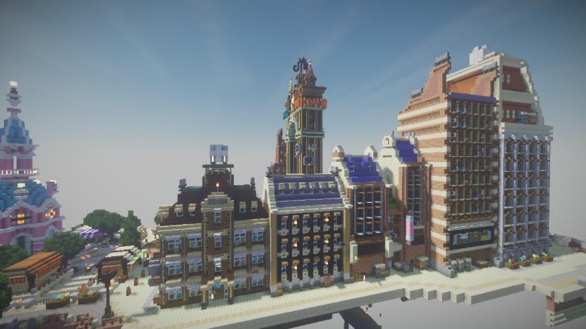 Minecrafterししゃもがマインクラフトで空中都市プコサヴィルの街並みを作る11