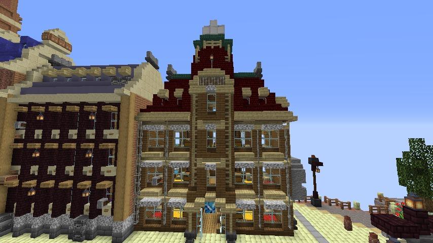 Minecrafterししゃもがマインクラフトで空中都市プコサヴィルの街並みを作る5
