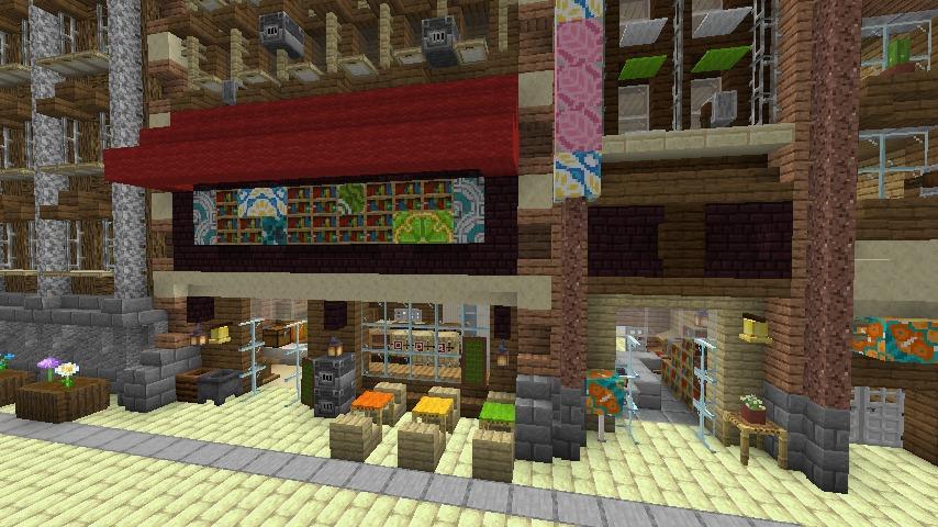 Minecrafterししゃもがマインクラフトで空中都市プコサヴィルの街並みを作る8