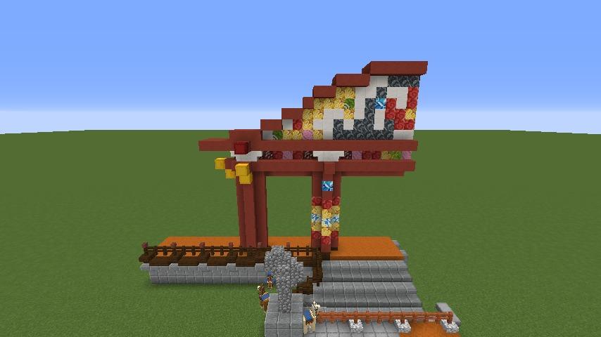 Minecrafterししゃもがマインクラフトでぷっこ村に焼失した首里城を再建したい2