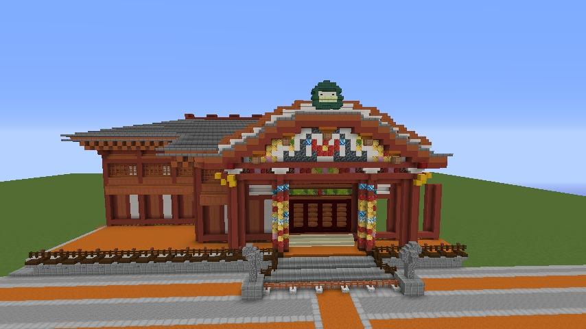 Minecrafterししゃもがマインクラフトでぷっこ村に焼失した首里城を再建したい7
