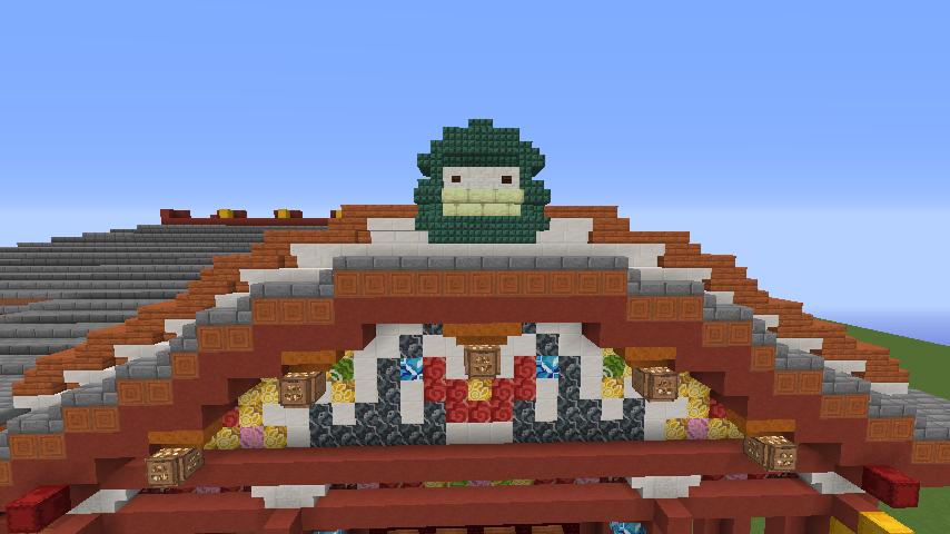 Minecrafterししゃもがマインクラフトでぷっこ村に焼失した首里城を再建したい4