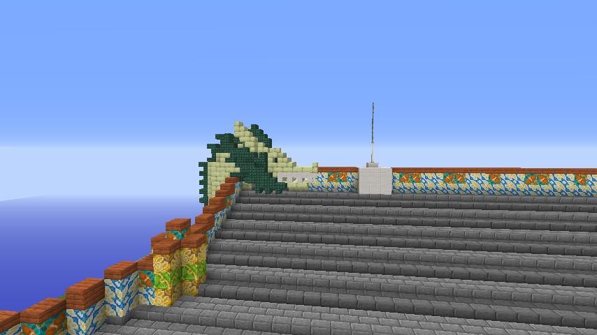 Minecrafterししゃもがマインクラフトでぷっこ村に焼失した首里城を再建したい8