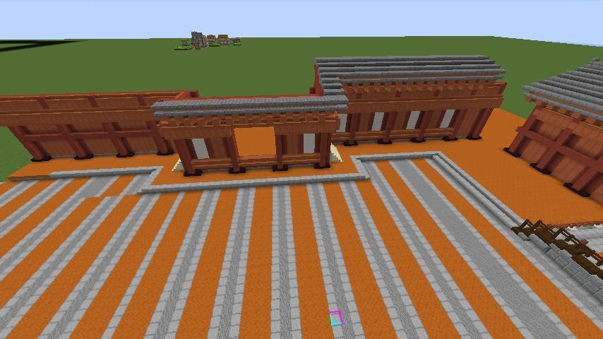 Minecrafterししゃもがマインクラフトで焼失した首里城正殿の北側をぷっこ村に再建する2