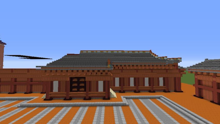 Minecrafterししゃもがマインクラフトで焼失した首里城正殿の北側をぷっこ村に再建する3
