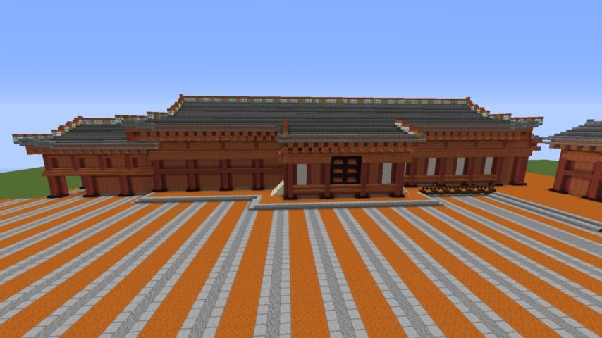 Minecrafterししゃもがマインクラフトで焼失した首里城正殿の北側をぷっこ村に再建する4