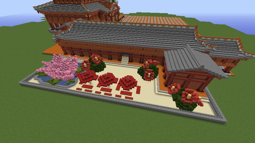 Minecrafterししゃもがマインクラフトで焼失した首里城正殿の北側をぷっこ村に再建する6
