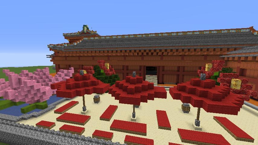 Minecrafterししゃもがマインクラフトで焼失した首里城正殿の北側をぷっこ村に再建する7