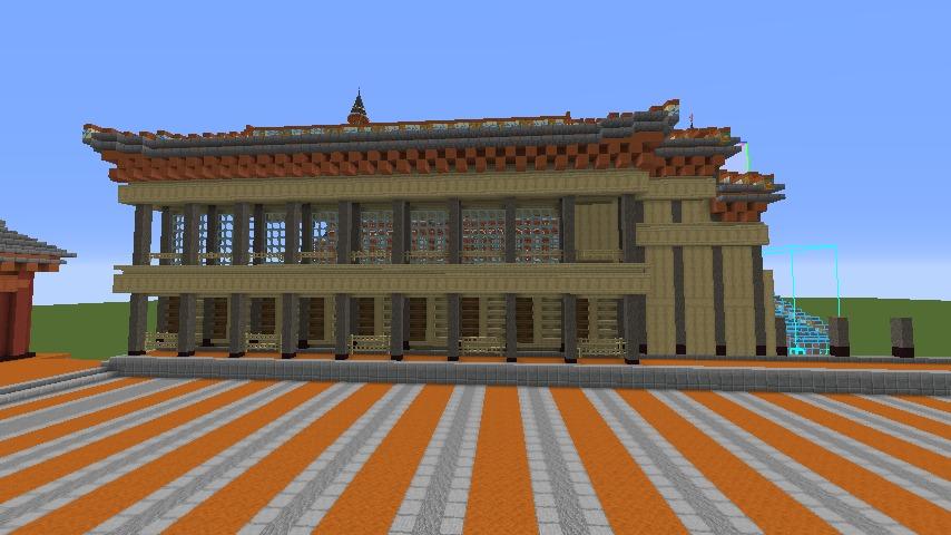 Minecrafterししゃもがマインクラフトで焼失した首里城南殿をぷっこ村に再建する3