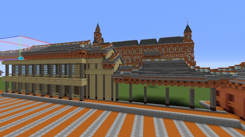 Minecrafterししゃもがマインクラフトで焼失した首里城南殿をぷっこ村に再建する4